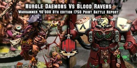 Daemons vs Blood Ravens